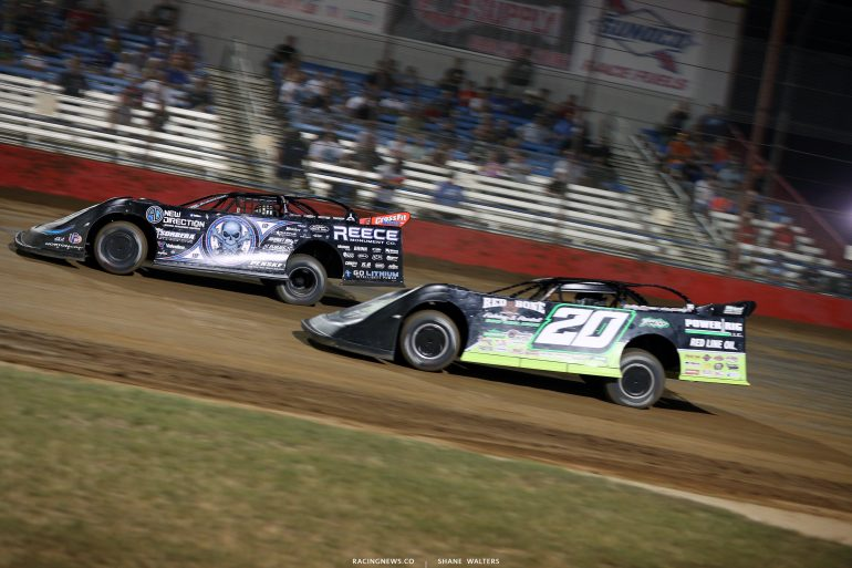 Scott Bloomquist and Jimmy Owens in the 2018 Diamond Nationals