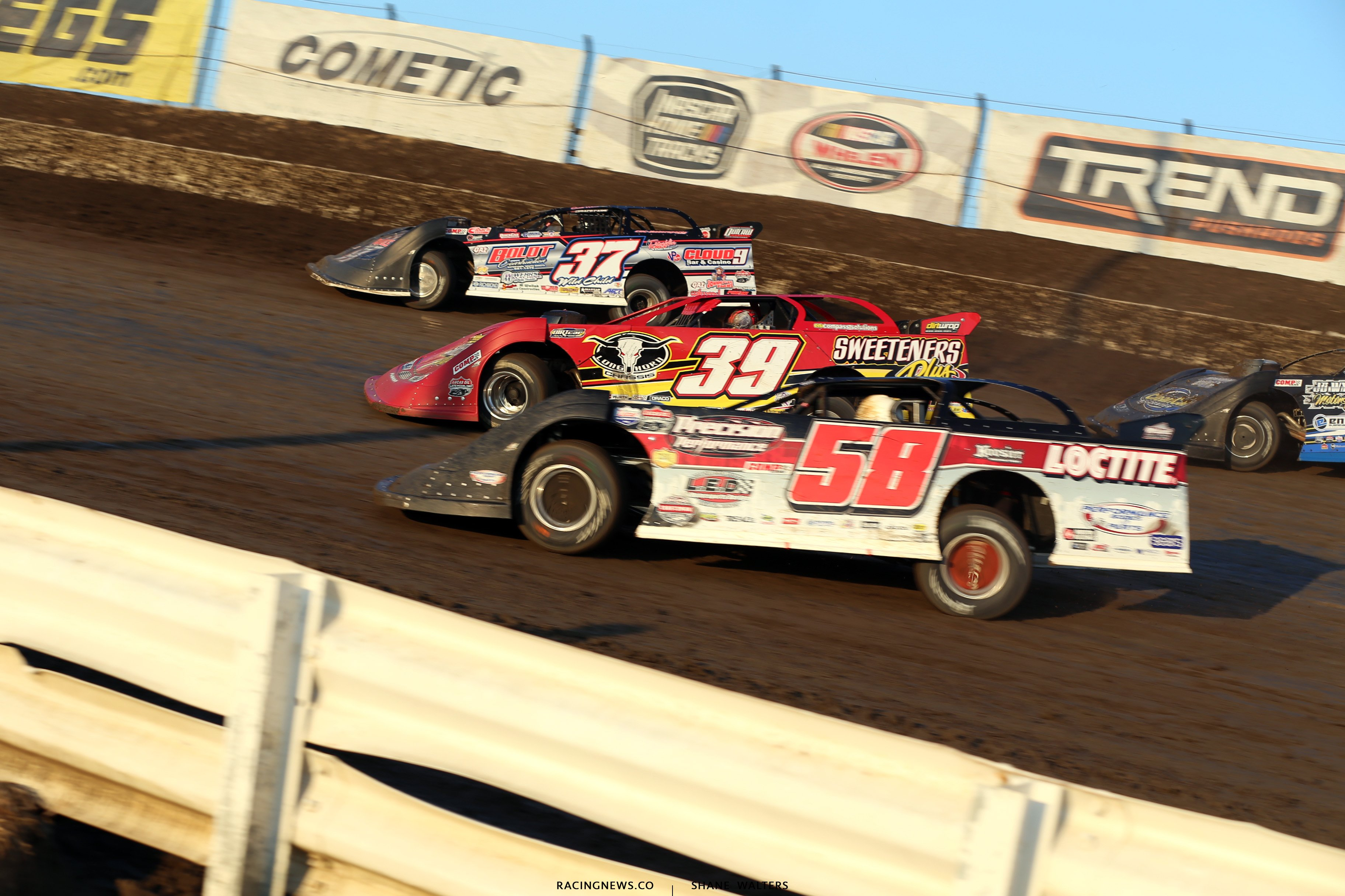 Scott Ward, Tim McCreadie and Dave Eckirch in the Silver Dollar Nationals 4282