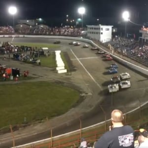 Stephen Nasse vs Josh Brock at Anderson Speedway