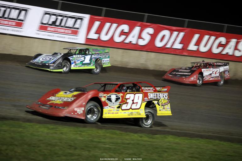 Tim McCreadie, Josh Richards and Bobby Pierce at Tri-City Speedway 2491
