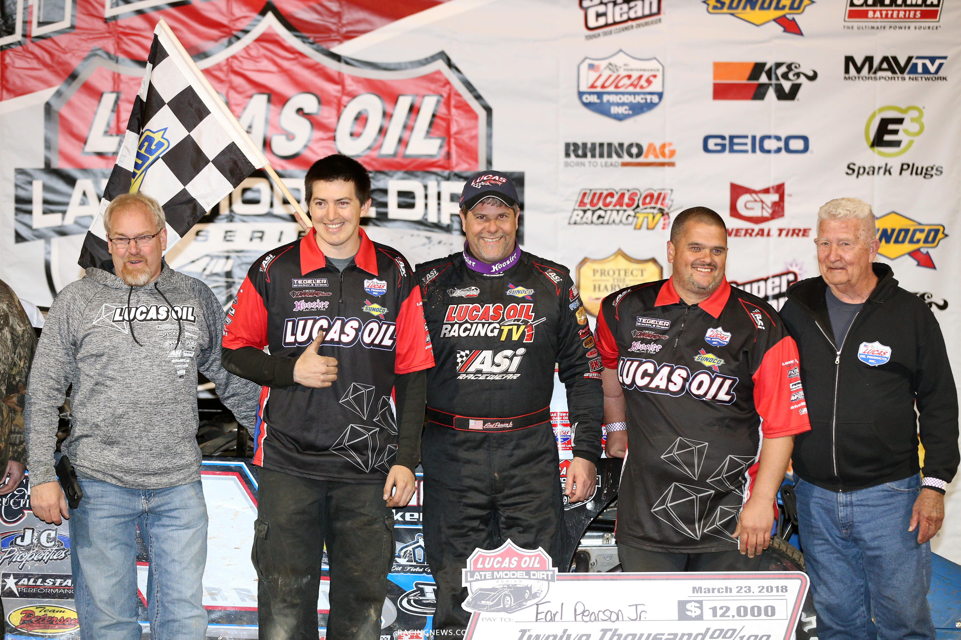 Black Diamond Race Team in victory lane at Boyds Speedway