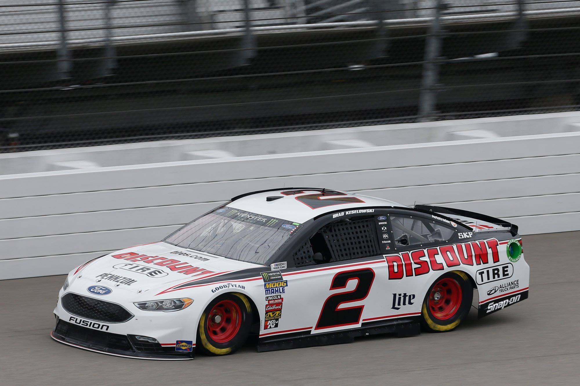 Brad Keselowski at Michigan International Speedway