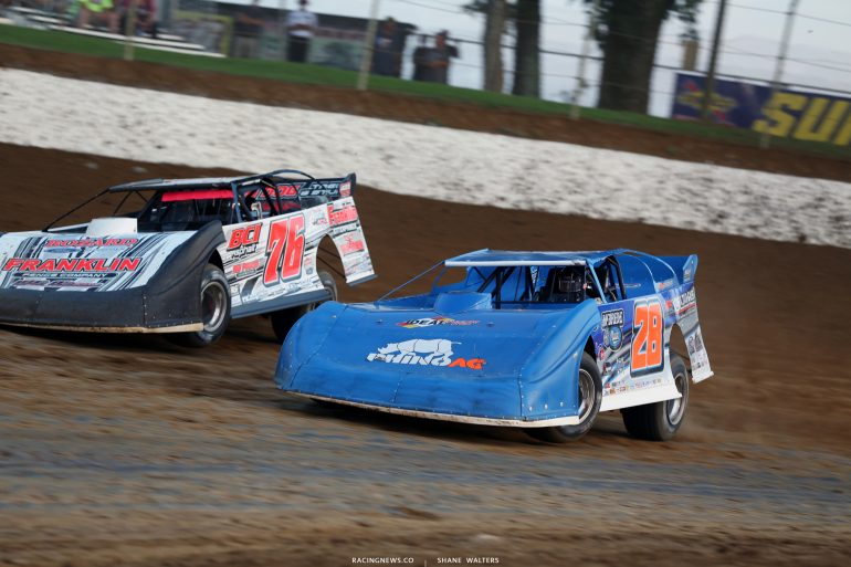 Brandon Overton and Dennis Erb Jr at Florence Speedway 4794