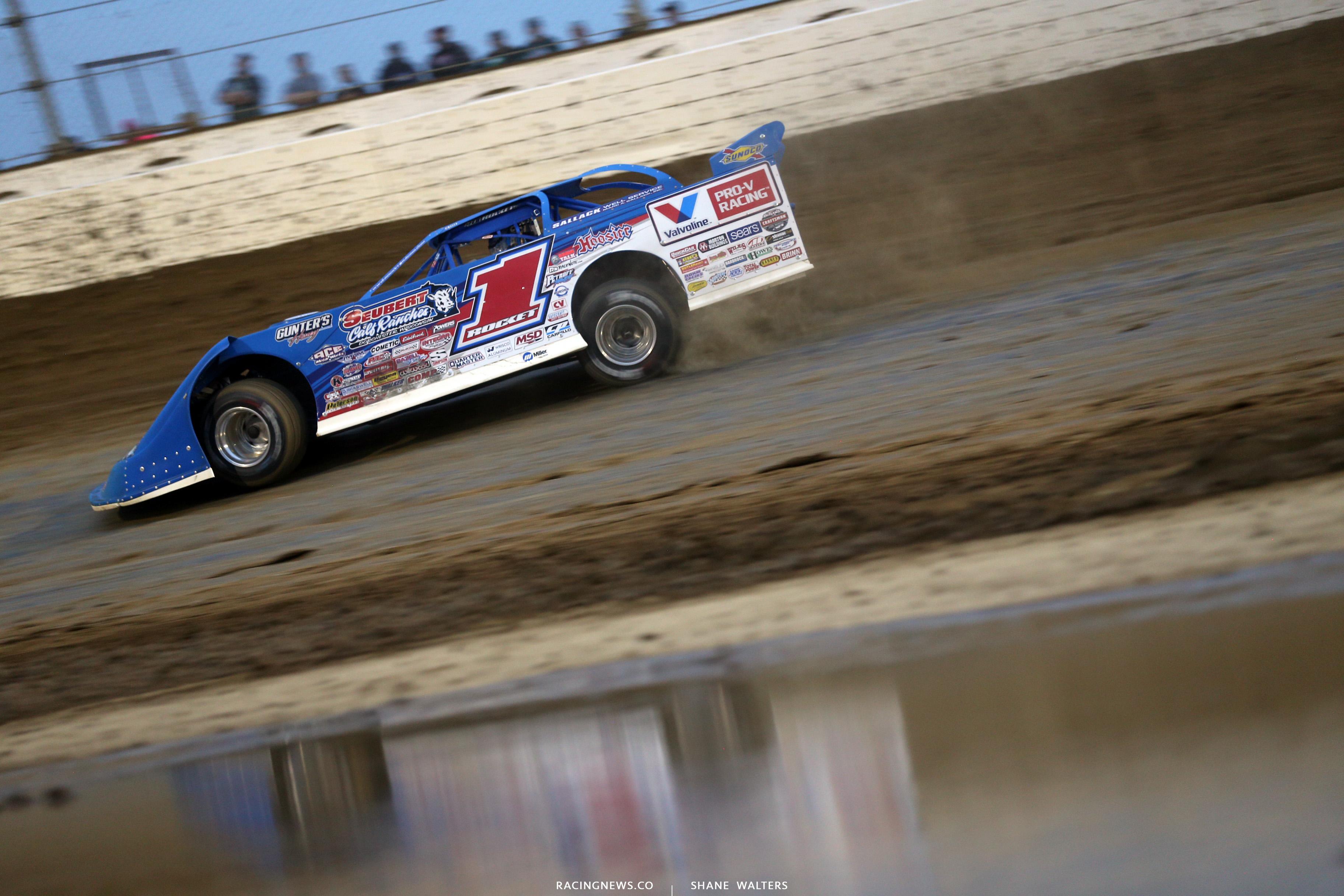 Brandon Sheppard at Mansfield Motor Speedway in the Dirt Million 6428