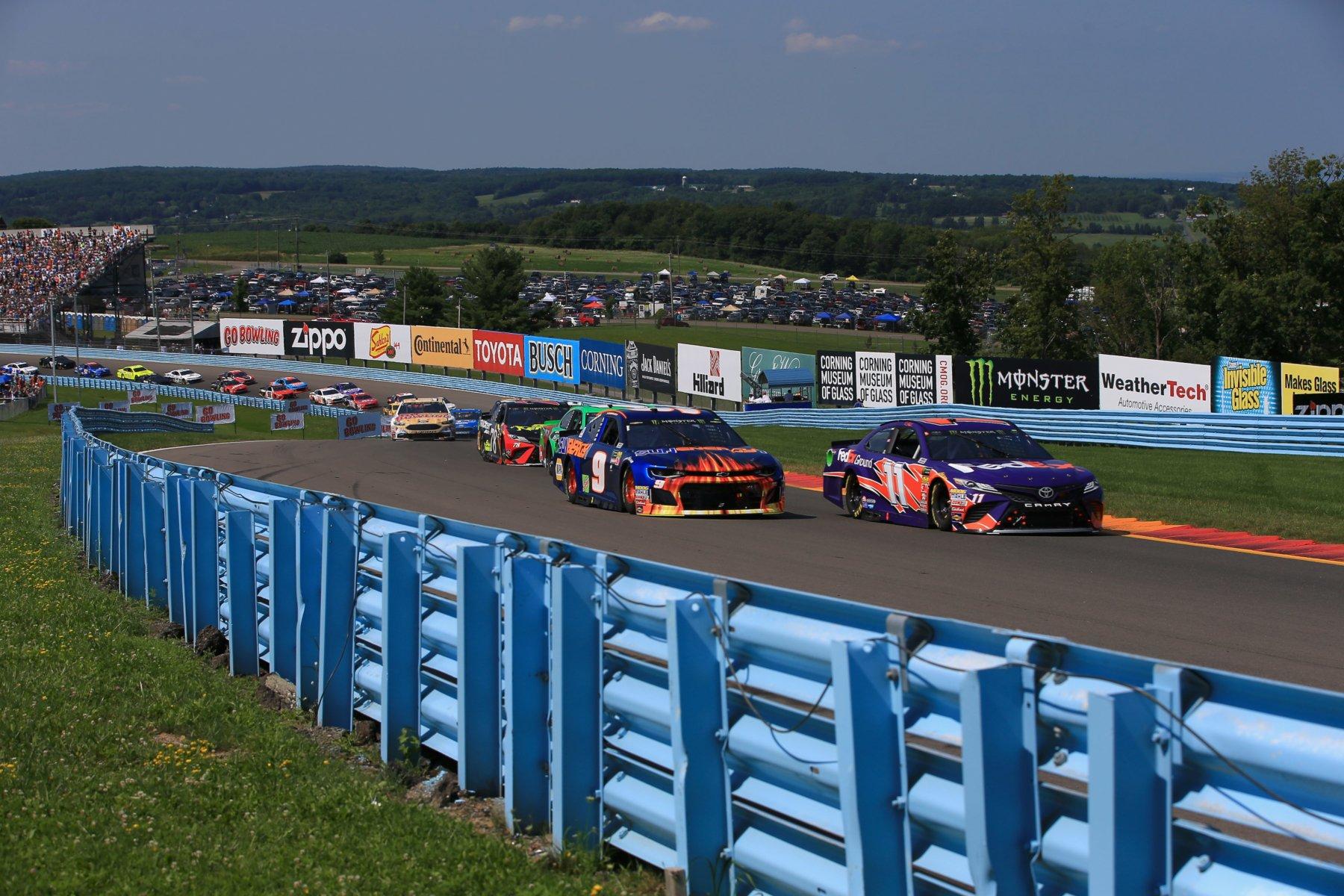 Chase Elliott and Denny Hamlin at Watkins Glen International