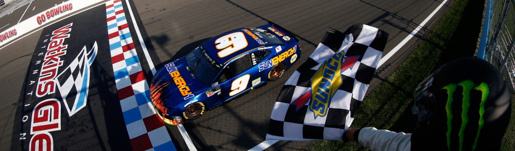 Chase Elliott's motorhome was teepeed after his first win