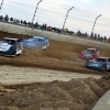 Chase Junghans, Kyle Bronson, Scott Bloomquist and Bobby Pierce in the Dirt Million at Mansfield Motor Speedway 6349