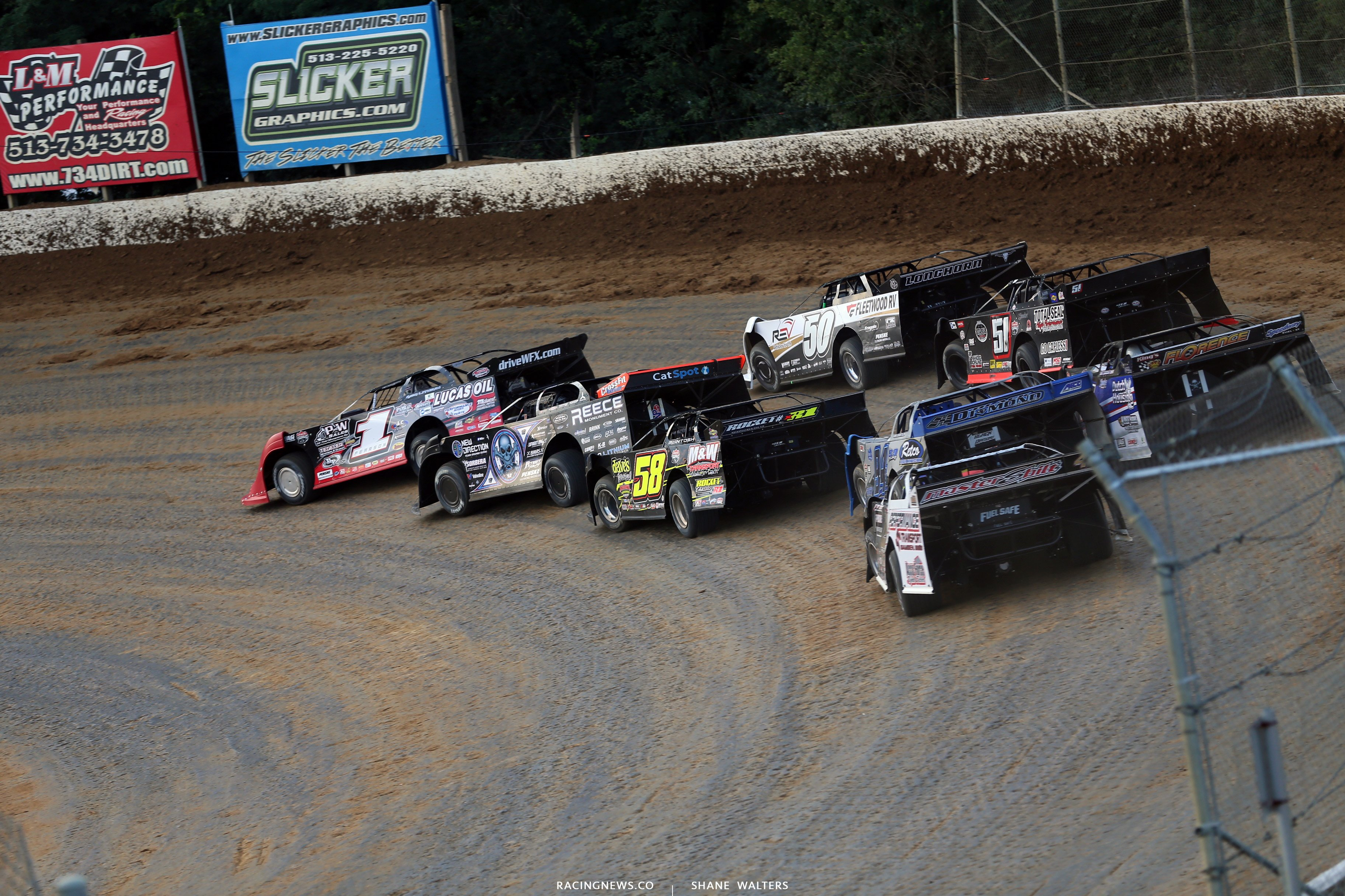 Earl Pearson Jr, Scott Bloomquist and Shannon Buckingham at Florence Speedway 5106