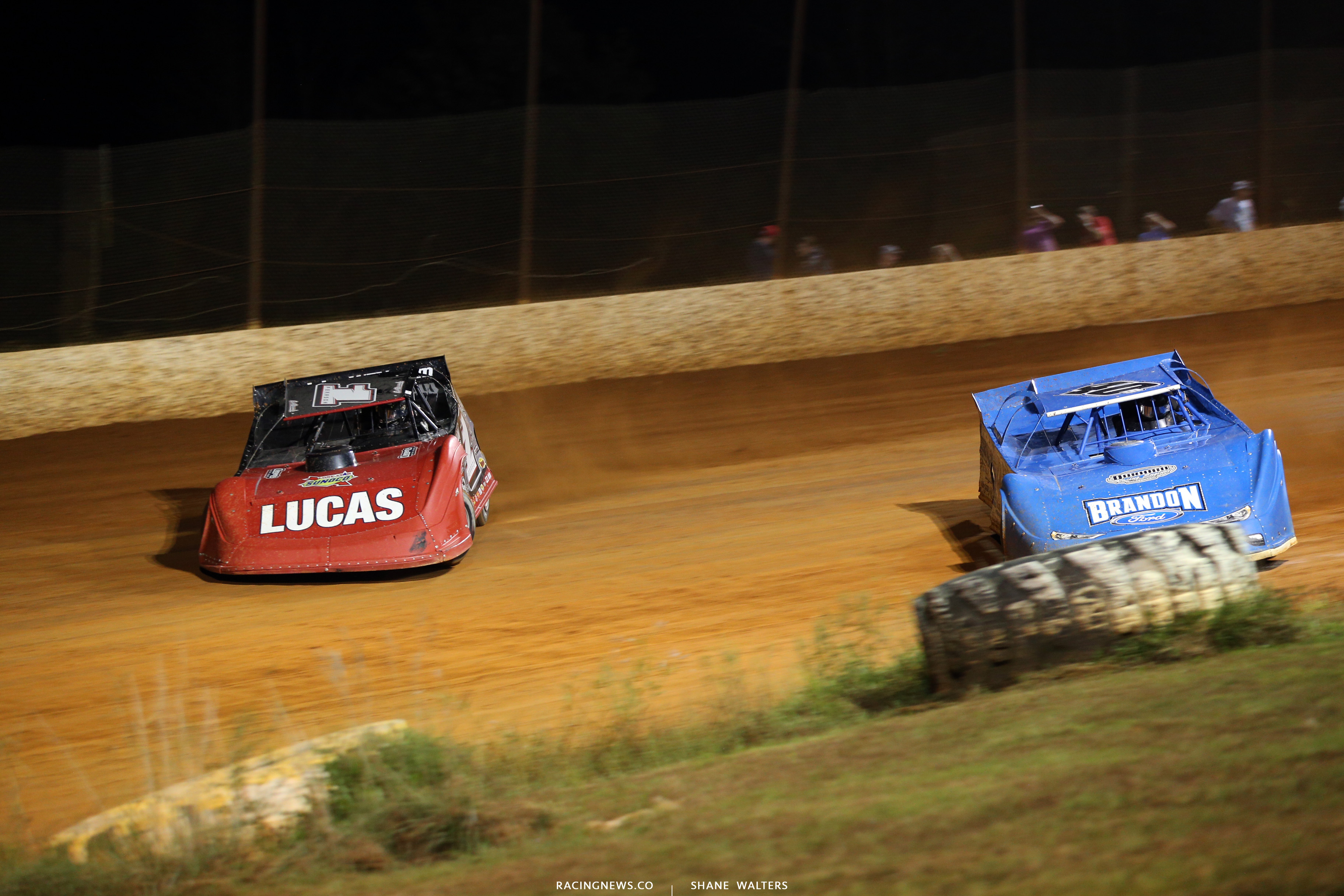 Earl Pearson Jr and Kyle Bronson at Ponderosa Speedway 6969