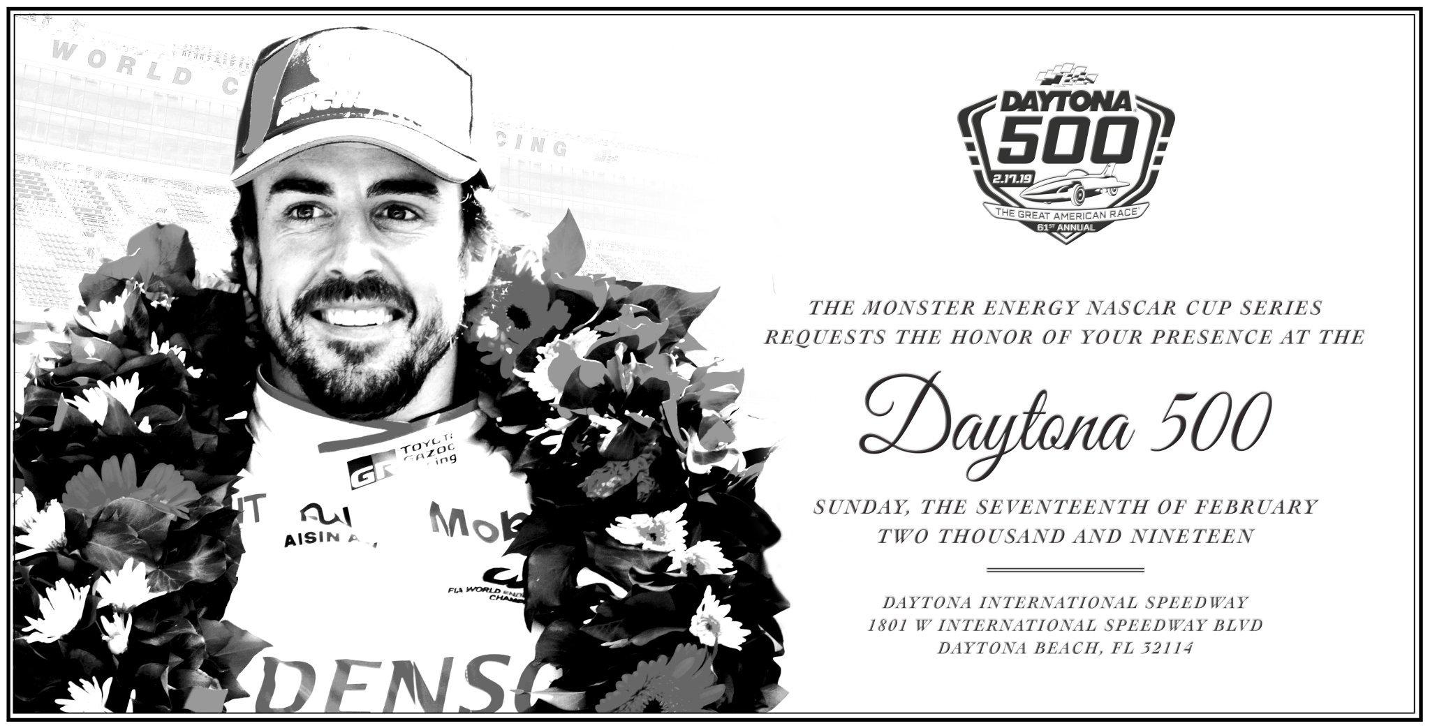 Fernando Alonso - 2019 Daytona 500 Invite