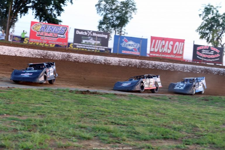 Gregg Satterlee, Joey Moriarty and Mason Zeigler at Florence Speedway 4761