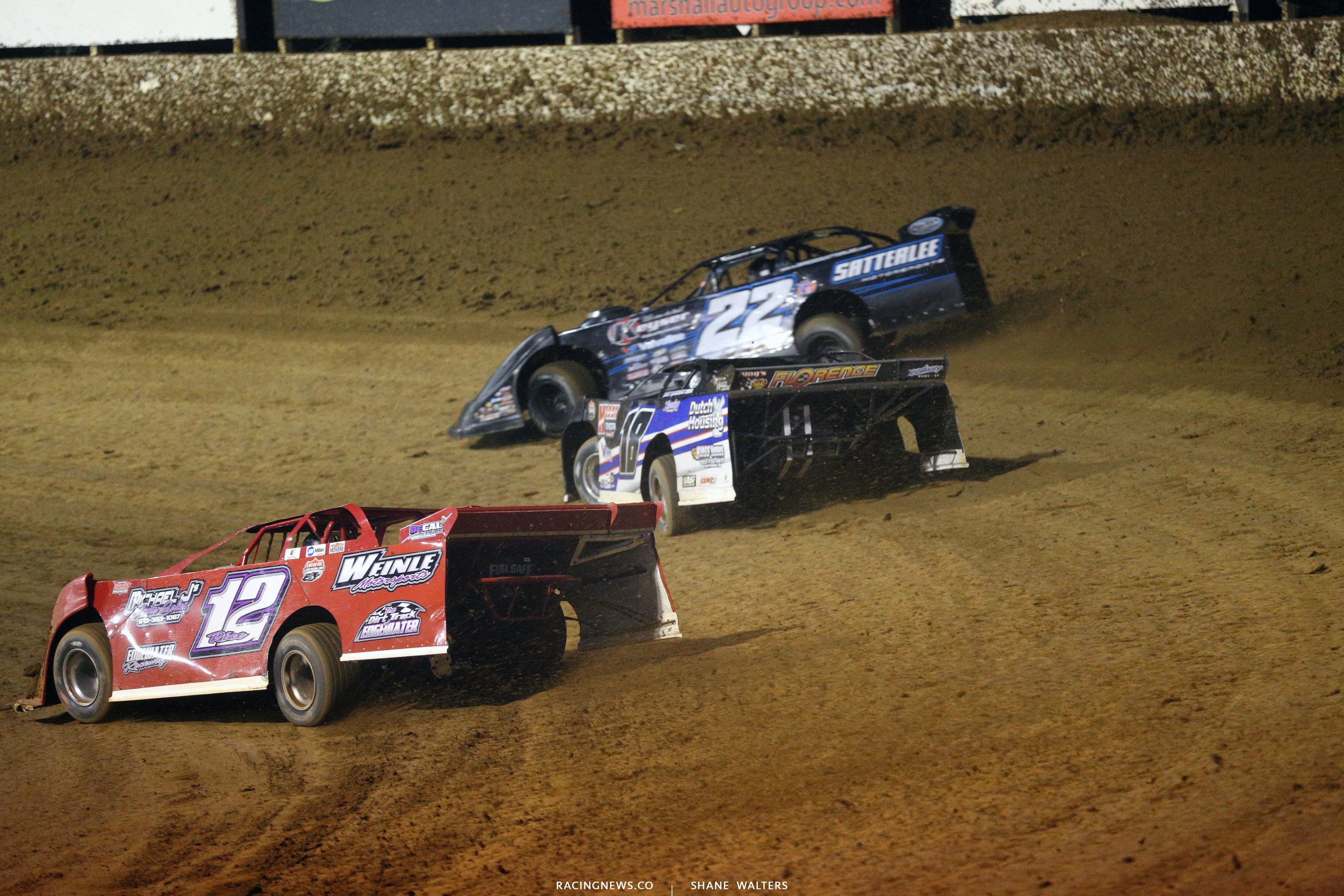 Gregg Satterlee and Josh Rice at Florence Speedway 5615