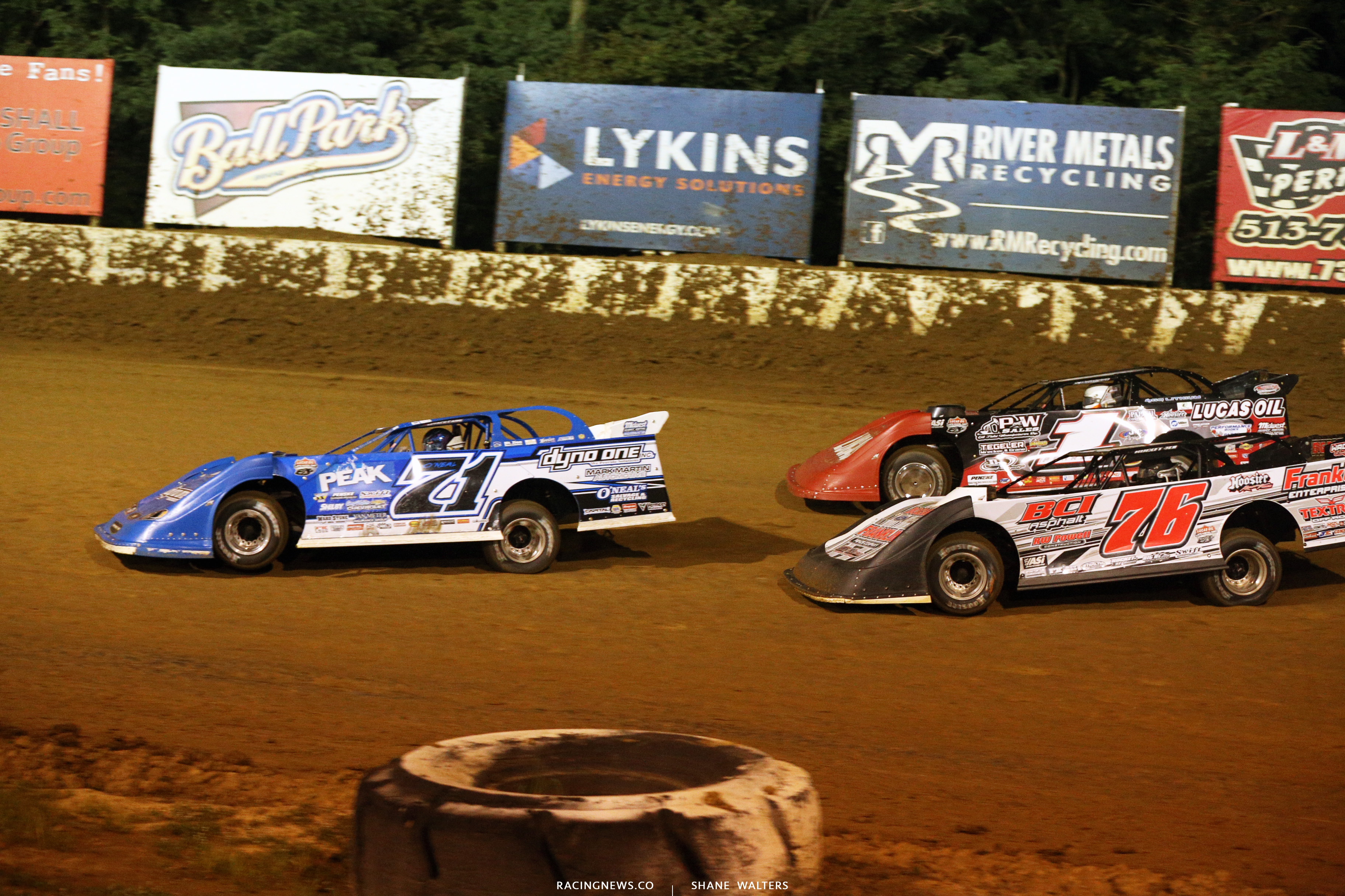 Hudson O'Neal, Brandon Overton, Earl Pearson Jr at Florence Speedway 5675