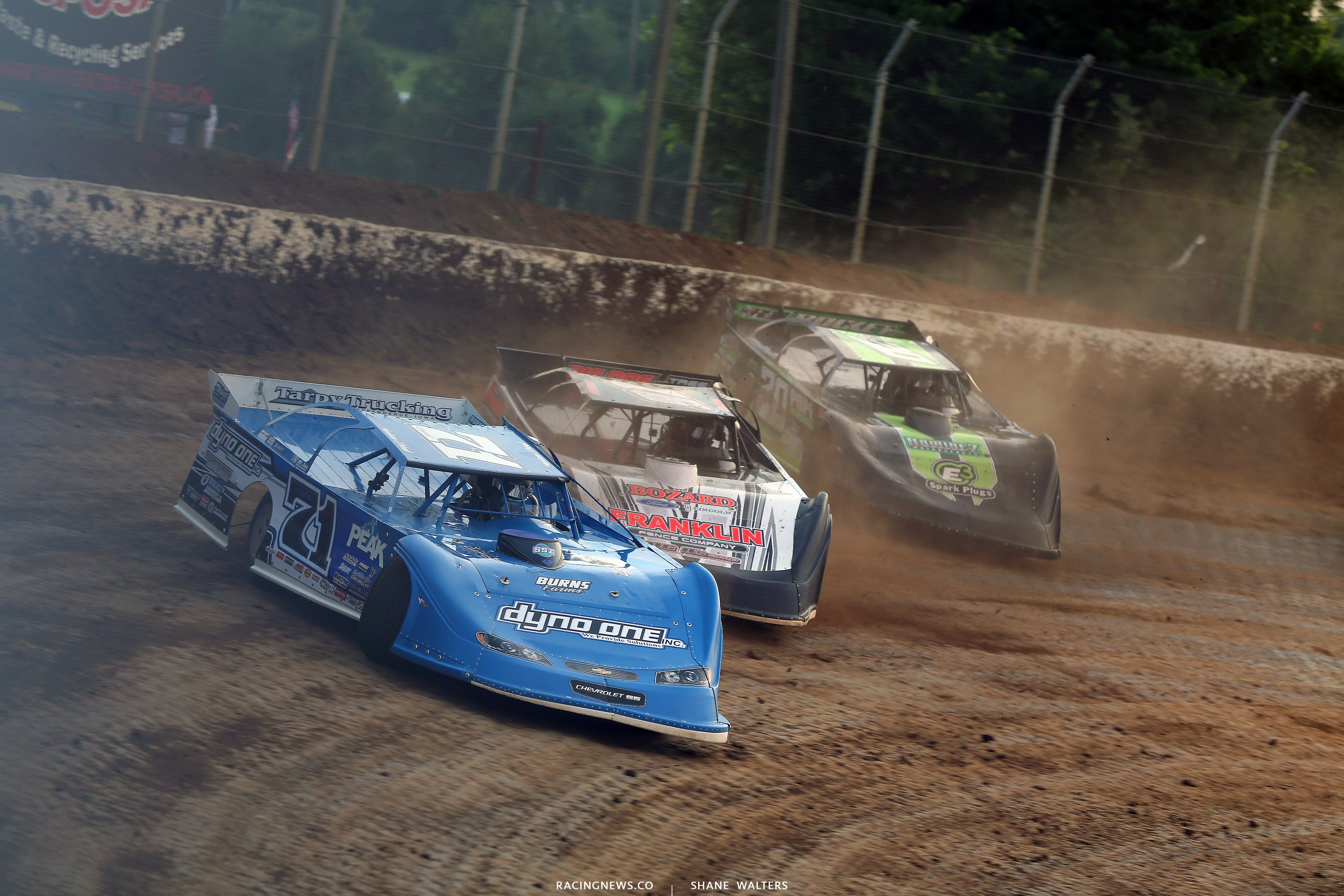 Hudson O'Neal, Brandon Overton and Jimmy Owens at Florence Speedway 5149