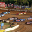 Hudson O'Neal, Jason Jameson and Tim McCreadie in the North South 100 at Florence Speedway 5423