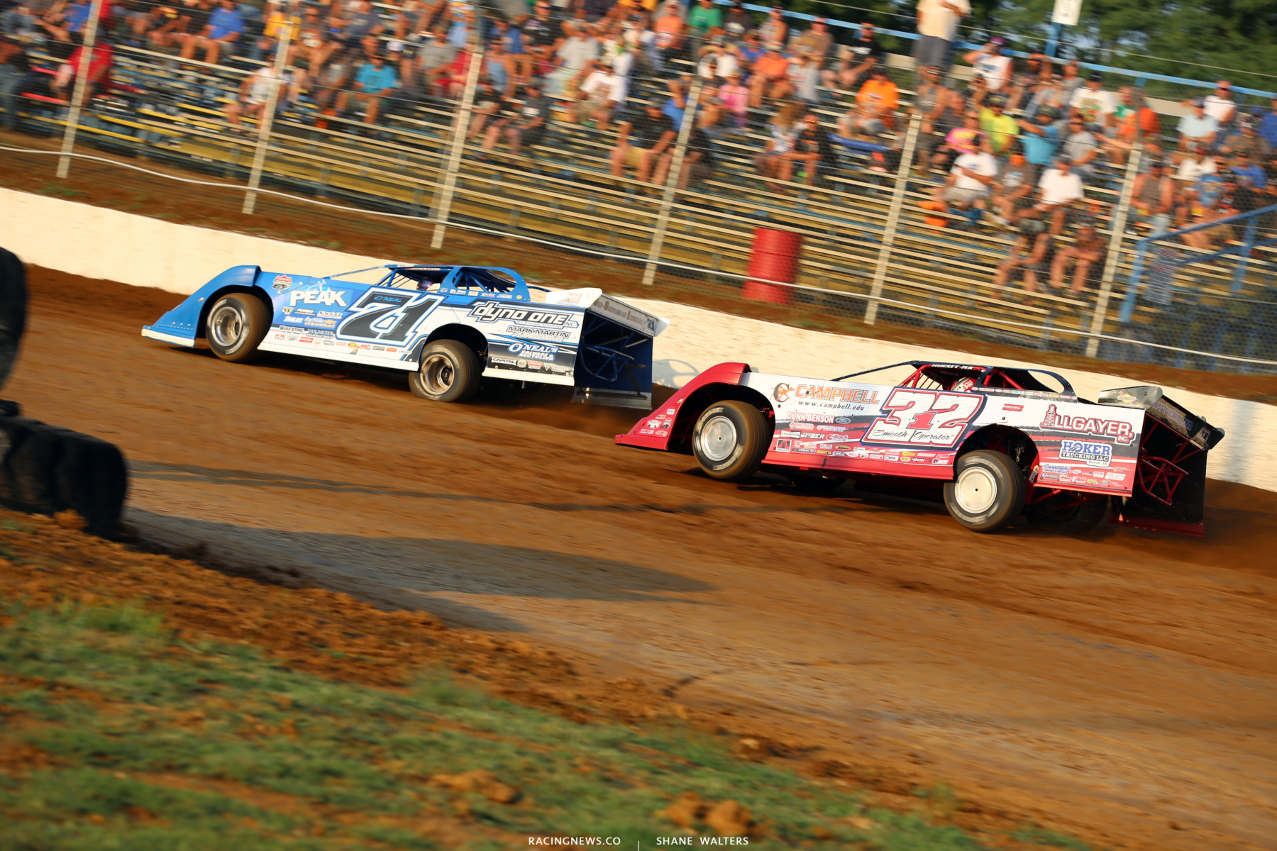 Hudson O'Neal and Bobby Pierce at Florence Speedway 4632