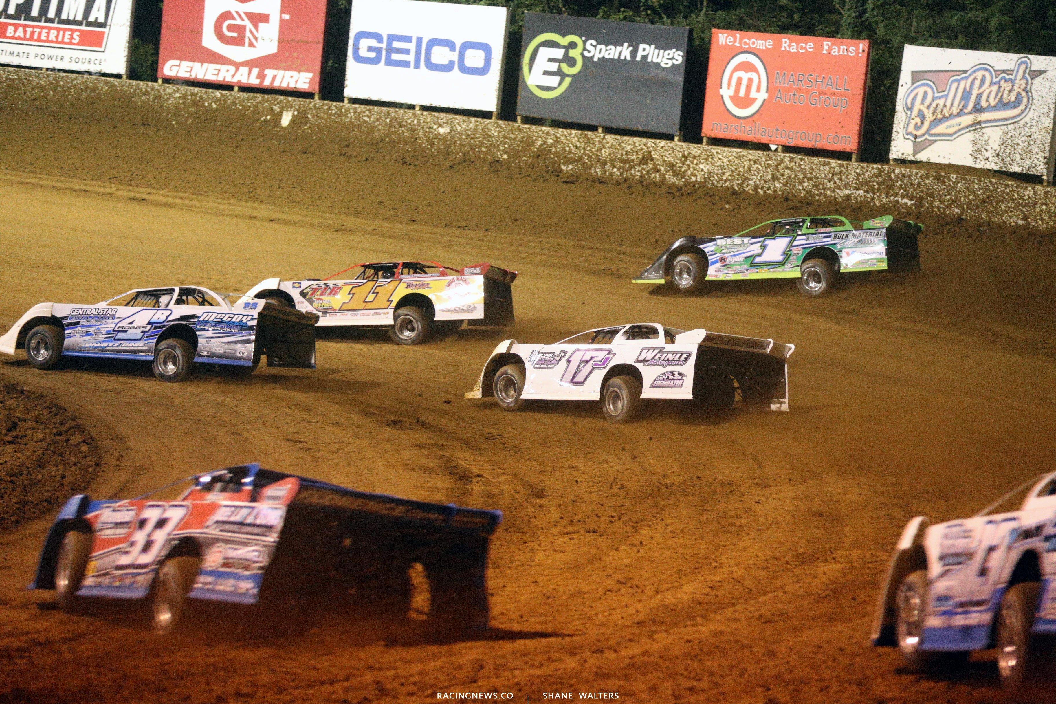 Jackie Boggs, Josh Rice and Josh Richards at Florence Speedway 5639