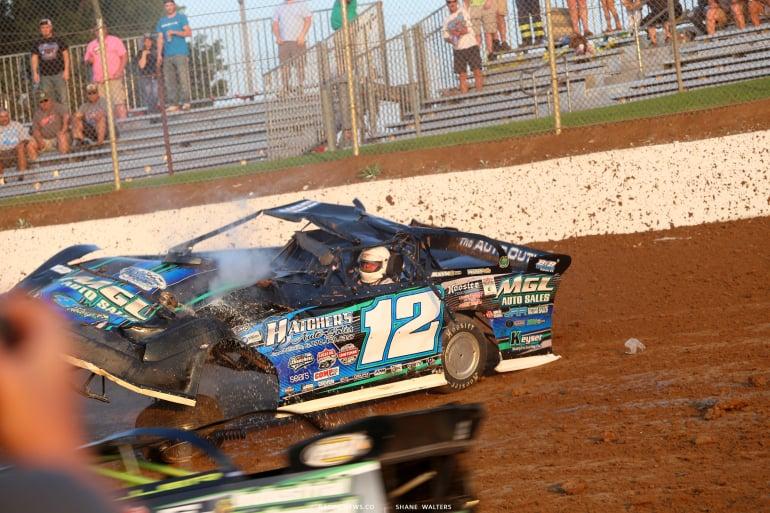 Jason Jameson 12 - Dirt late model rollover photos 4732