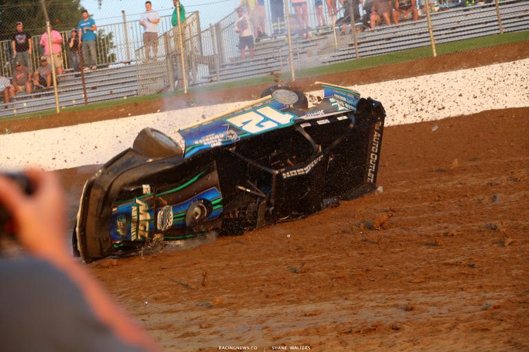 Jason Jameson - Dirt late model crash photos 4728