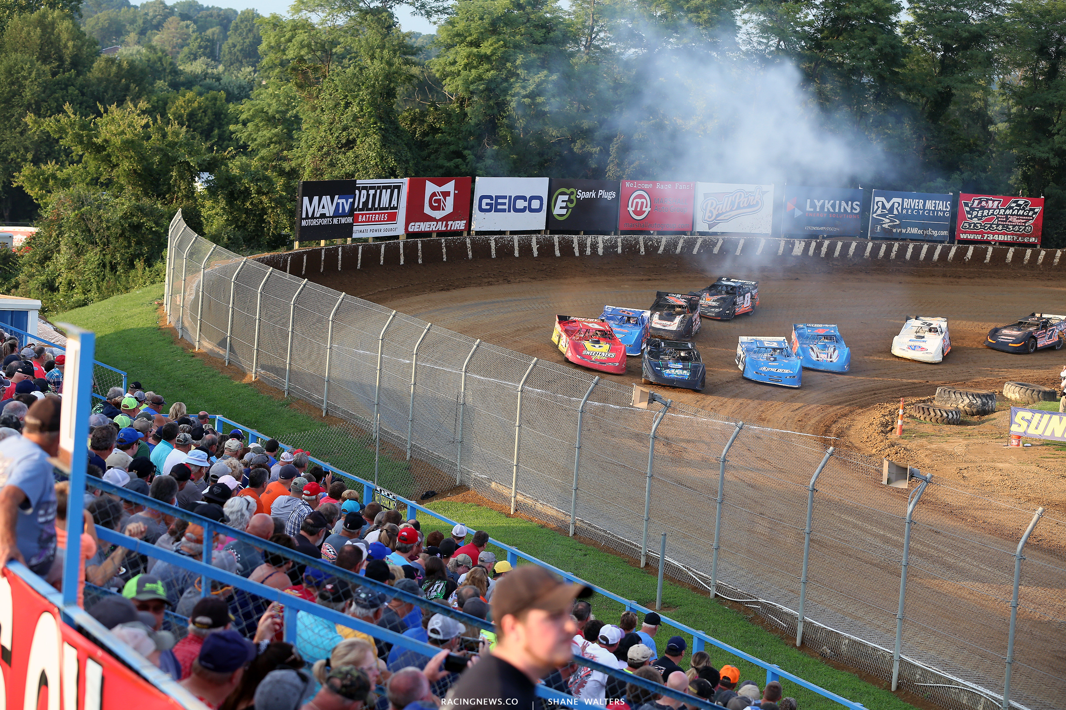 Jason Jameson, Tim McCreadie, Hudson O'Neal and Ricky Weiss at Florence Speedway 5418