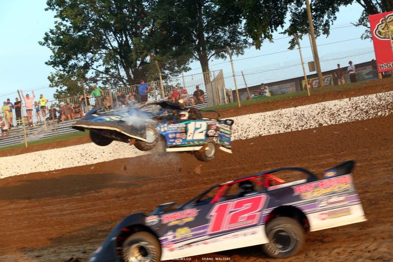 Jason Jameson crash at Florence Speedway 4723