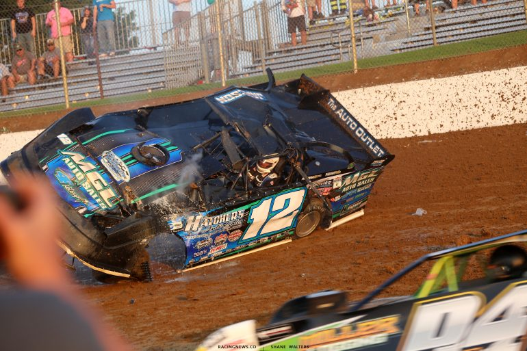 Jason Jameson - dirt racing crash sequence 4731