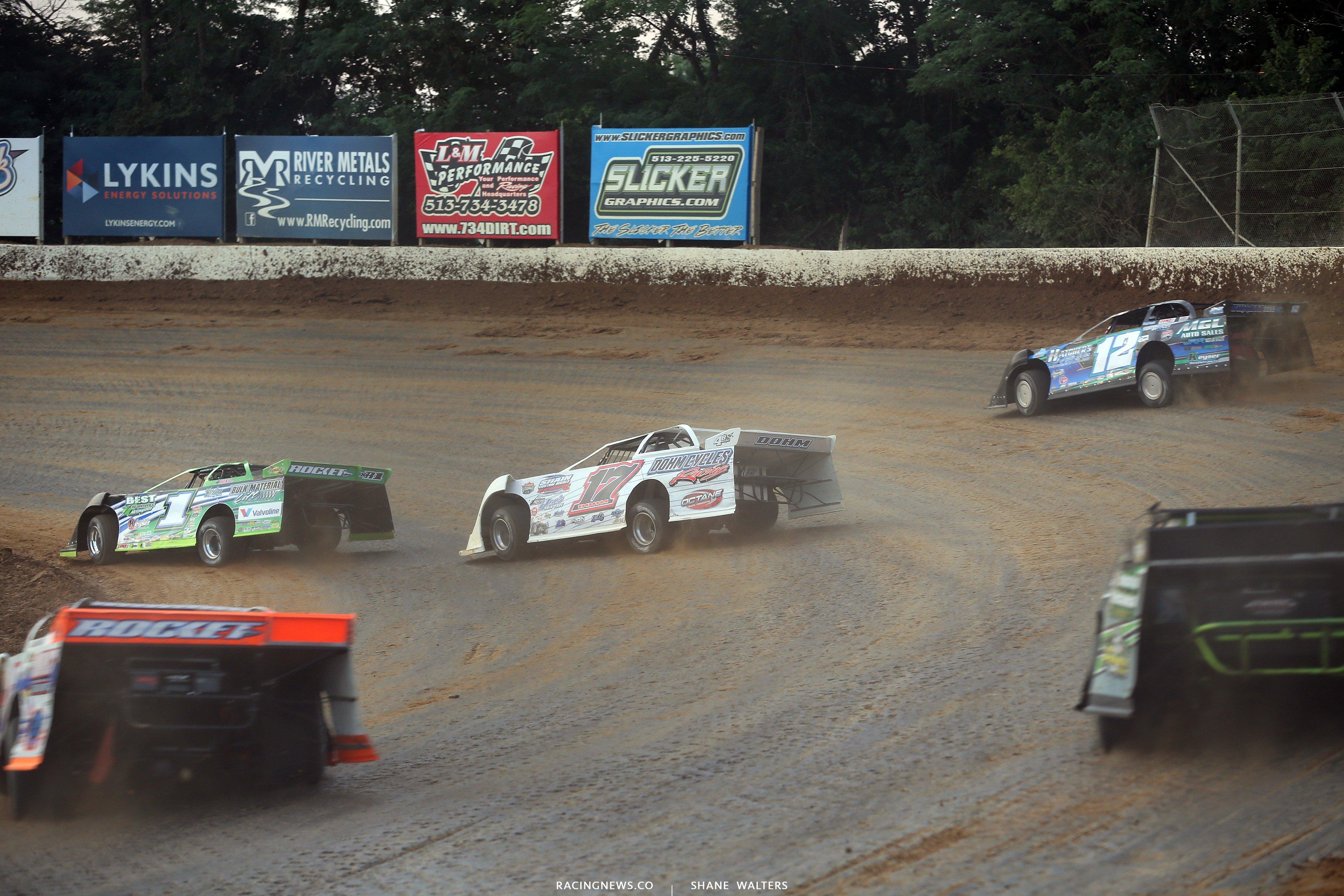 Josh Richards, Zack Dohm and Jason Jameson at Florence Speedway 5120