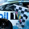 Keelan Harvick rides to victory lane with Kevin Harvick