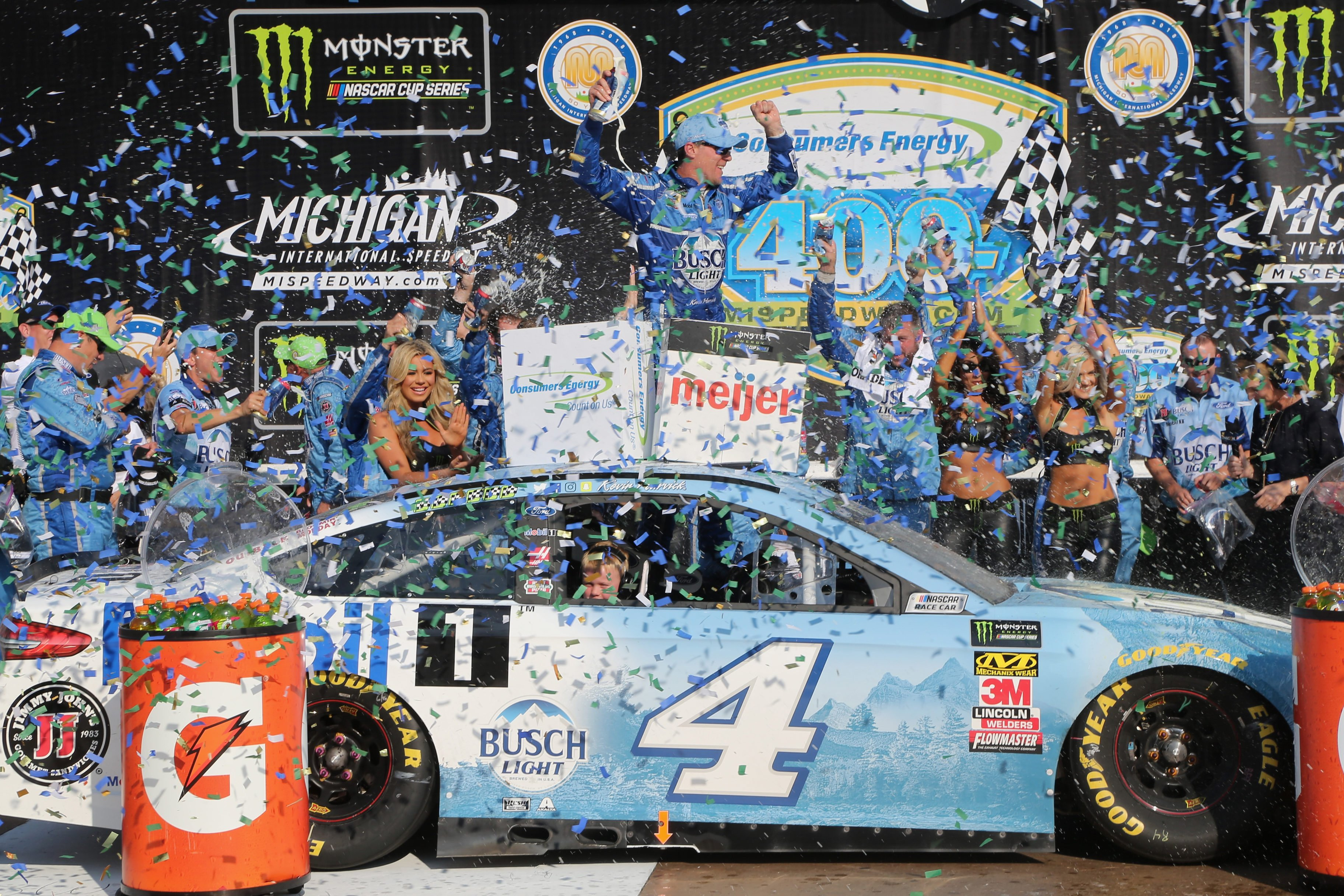 Kevin Harvick - Monster Energy victory lane