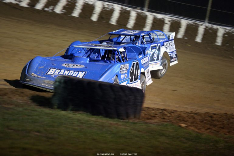 Kyle Bronson and Hudson O'Neal at Florence Speedway 4867