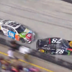 Kyle Busch turns Martin Truex Jr at Bristol Motor Speedway - NASCAR