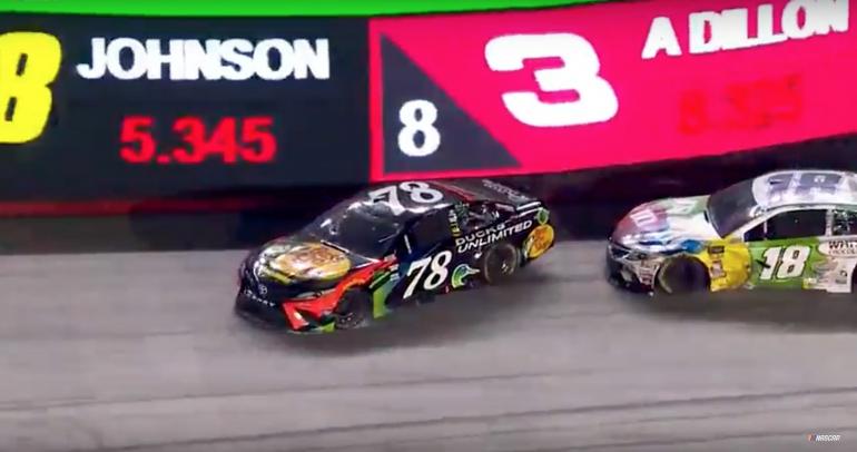 Kyle Busch wrecks Martin Truex Jr at Bristol Motor Speedway