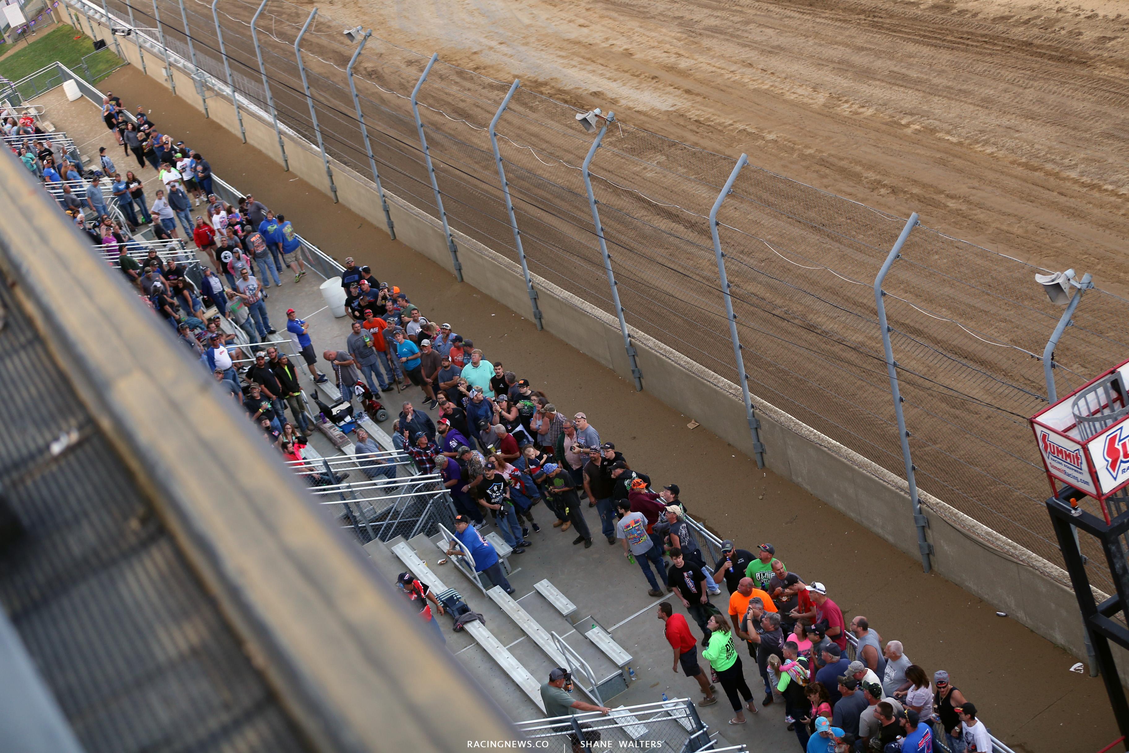 Mansfield Motor Speedway grandstands 5951