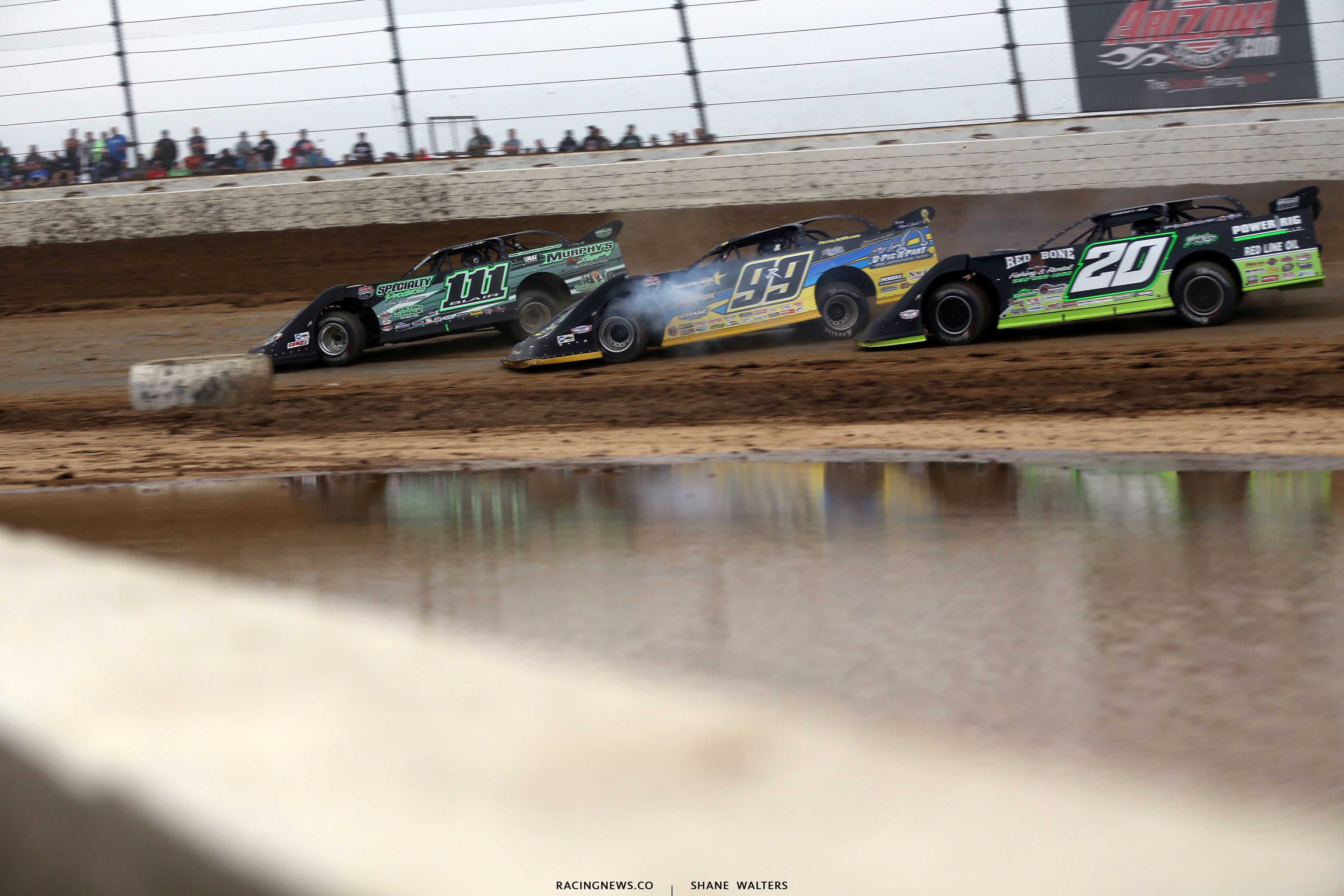 Max Blair, Frank Heckenast Jr and Jimmy Owens in the Dirt Million 6396