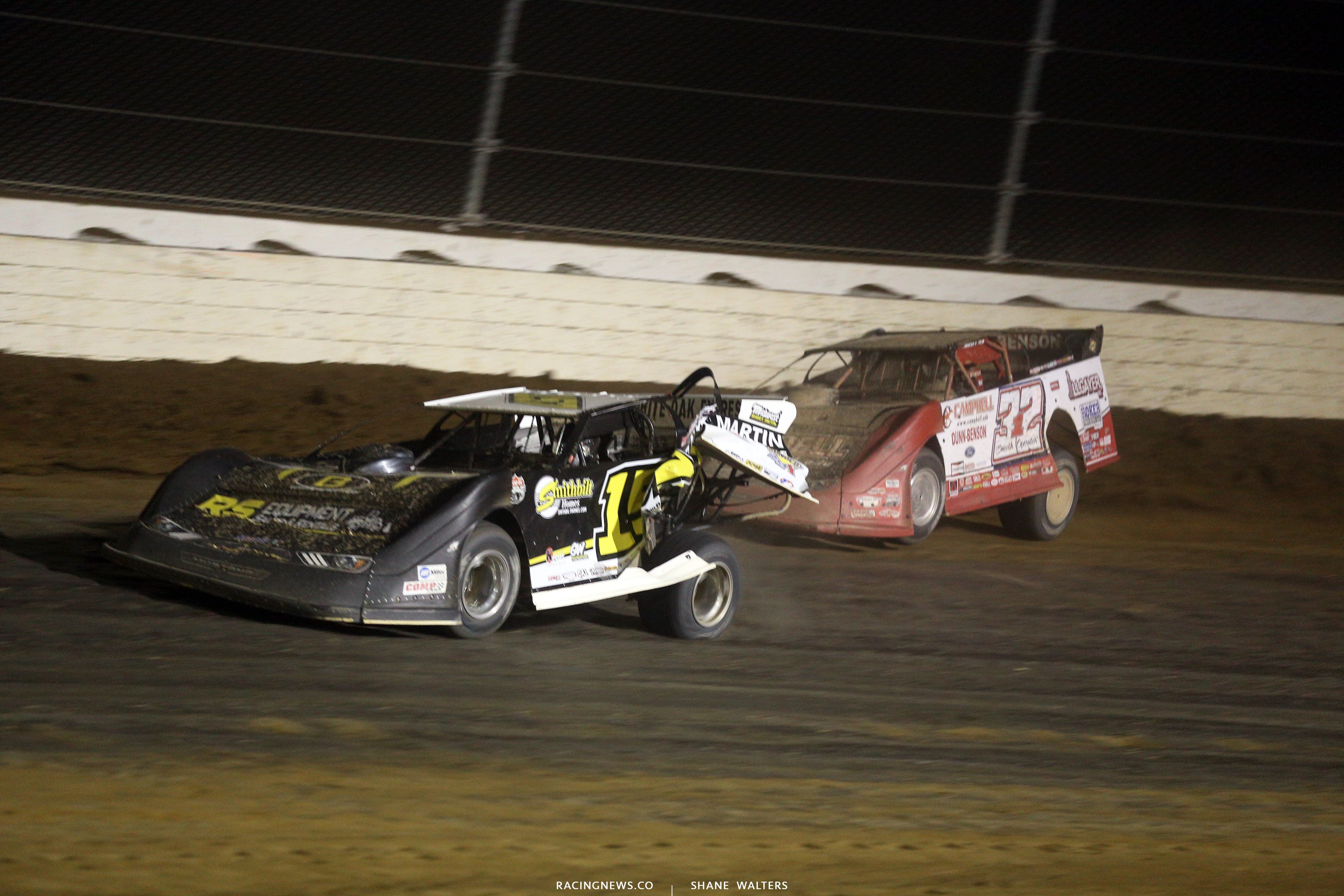 Mike Marlar and Bobby Pierce at Mansfield Motor Speedway