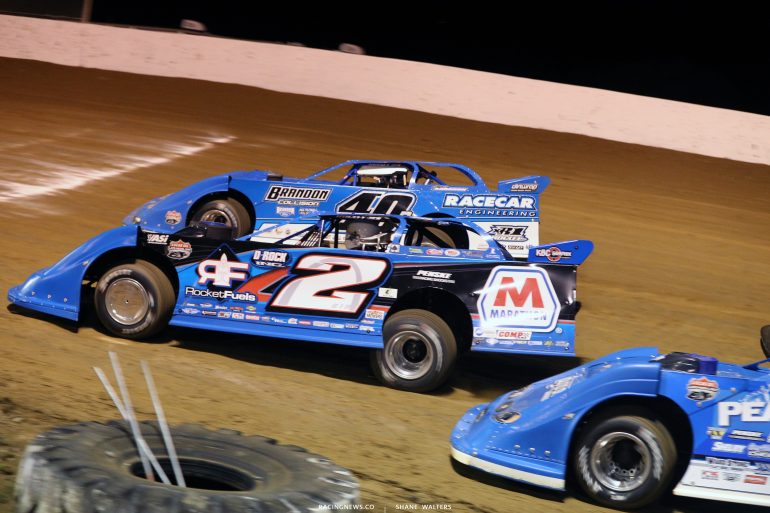 Nick Hoffman and Kyle Bronson at Florence Speedway 4810