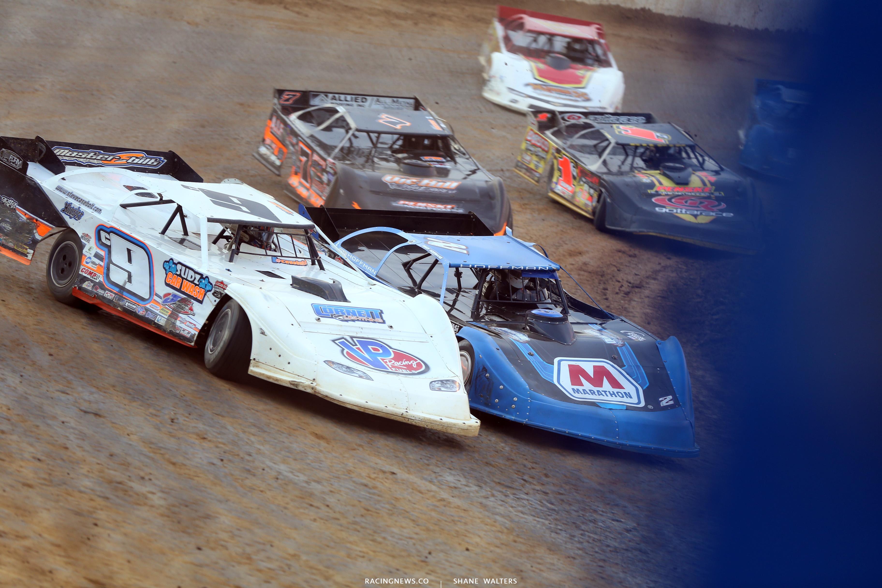 Nick Hoffman and Steve Casebolt at Florence Speedway 5163