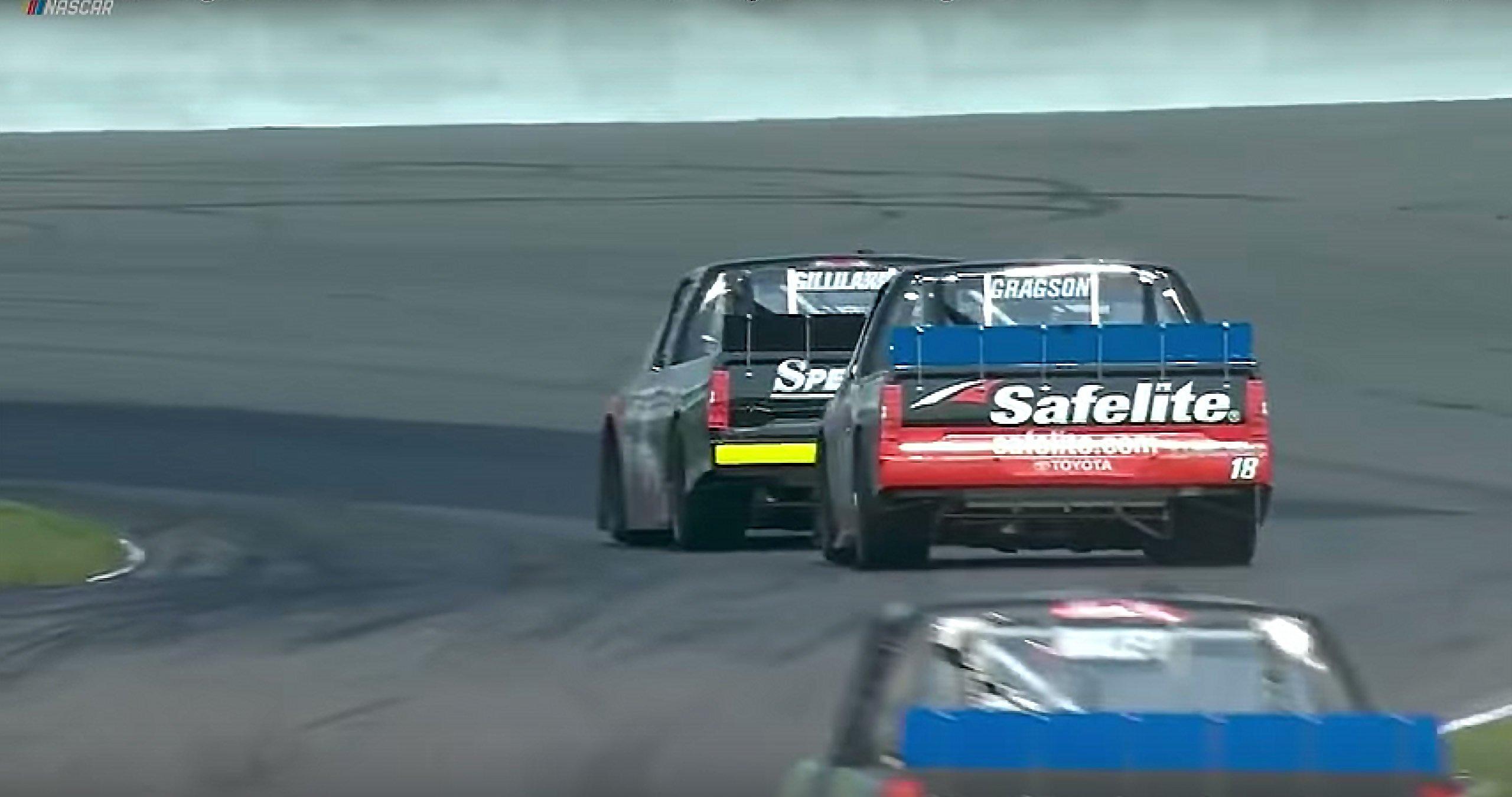 Noah Gragson Todd Gilliland wreck at Canadian Tire Motorsport Park