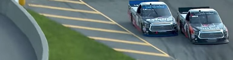 Teammates: Noah Gragson and Todd Gilliland wrecked for the win; Neither won