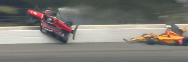 Indycar driver airlifted to hospital following Pocono crash (Video)