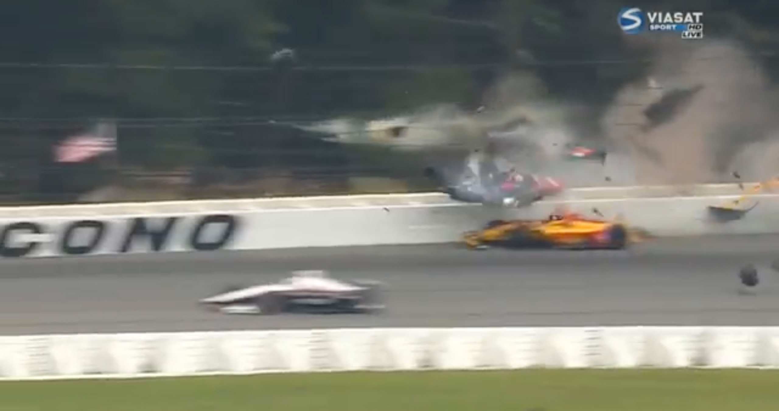 Robert Wickens indycar crash at Pocono Raceway