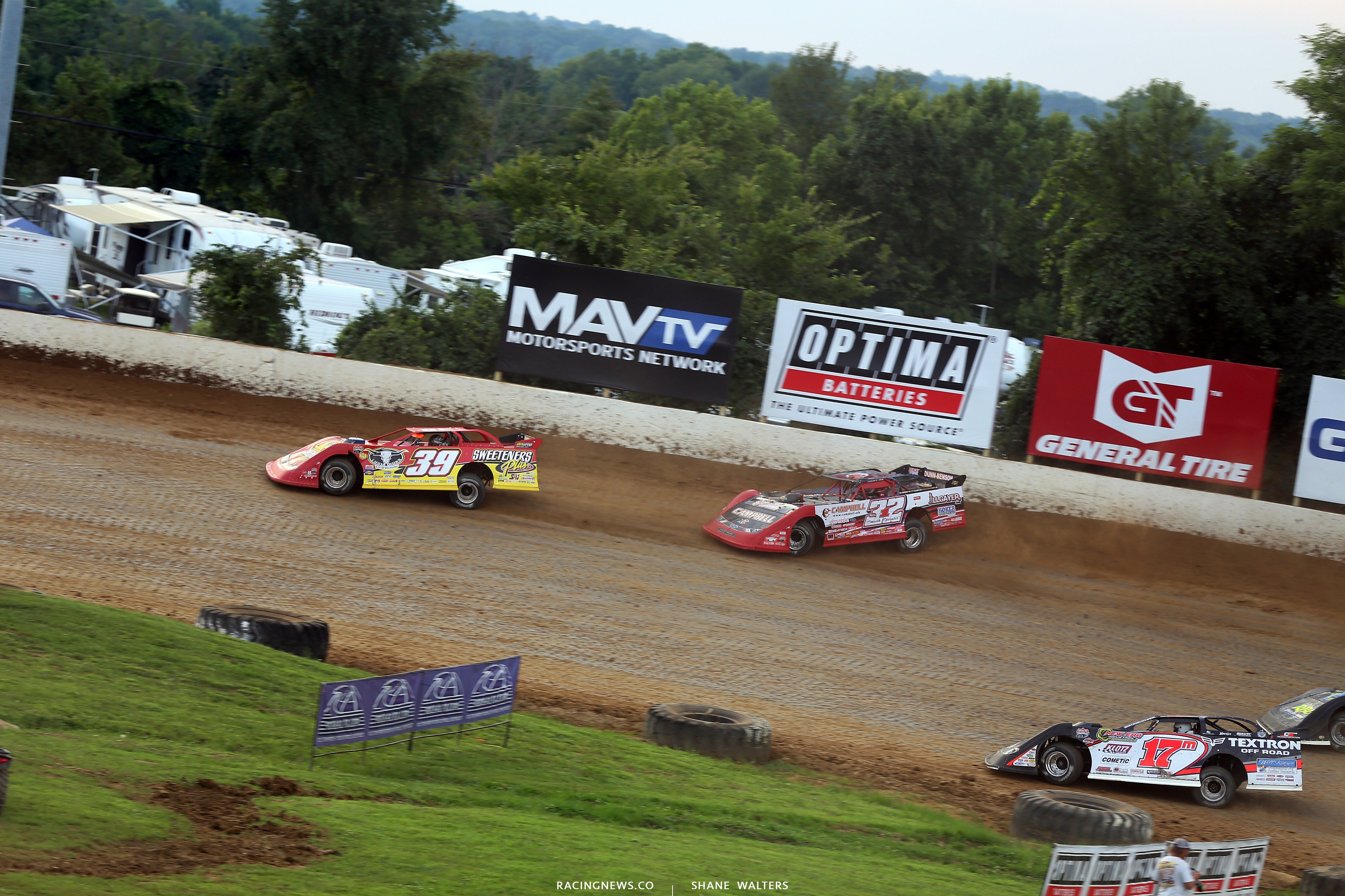 Tim McCreadie, Bobby Pierce and Dale McDowell at Florence Speedway 5080