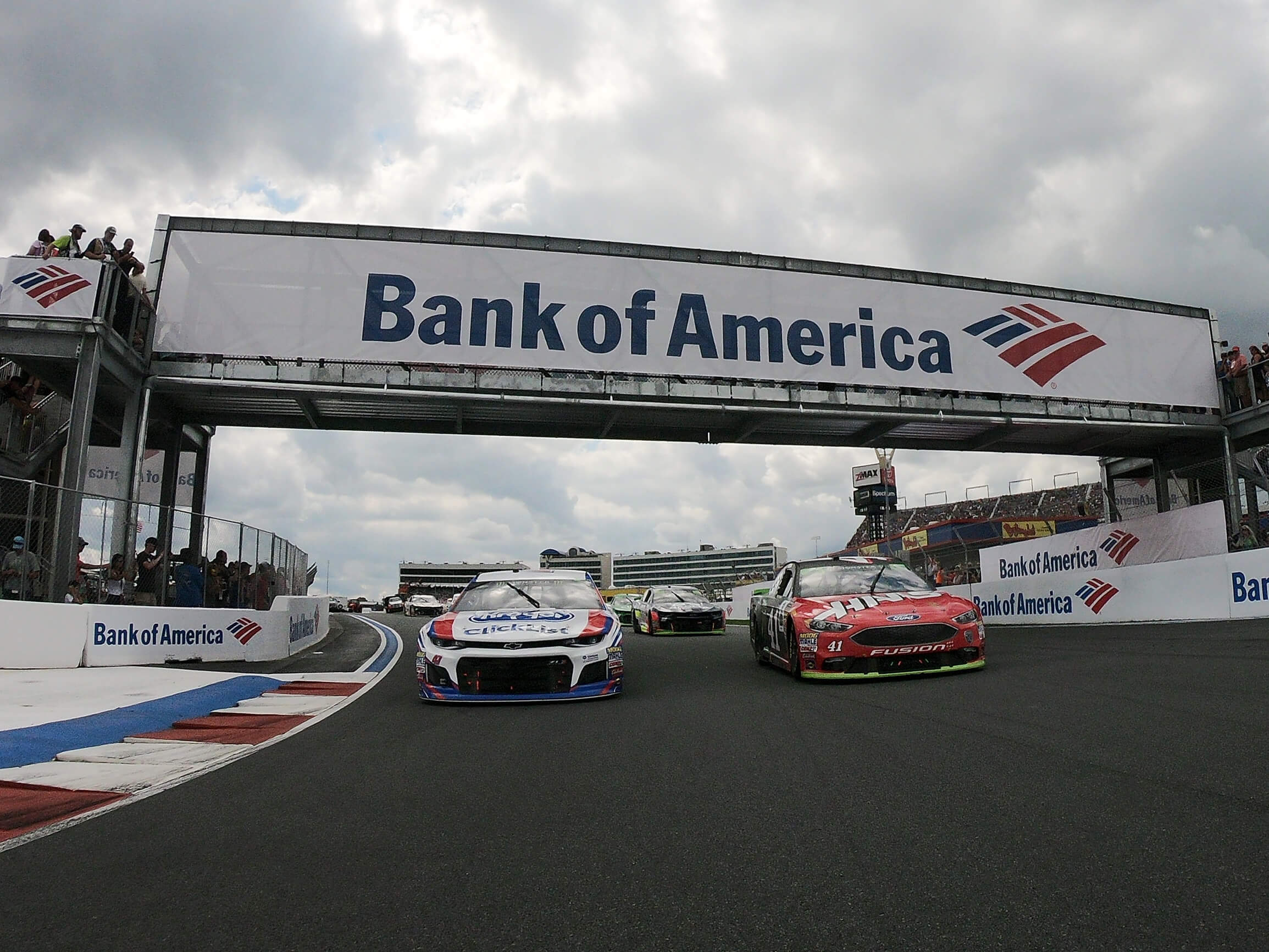 AJ Allmendinger and Kurt Busch in the Bank of America Roval 400