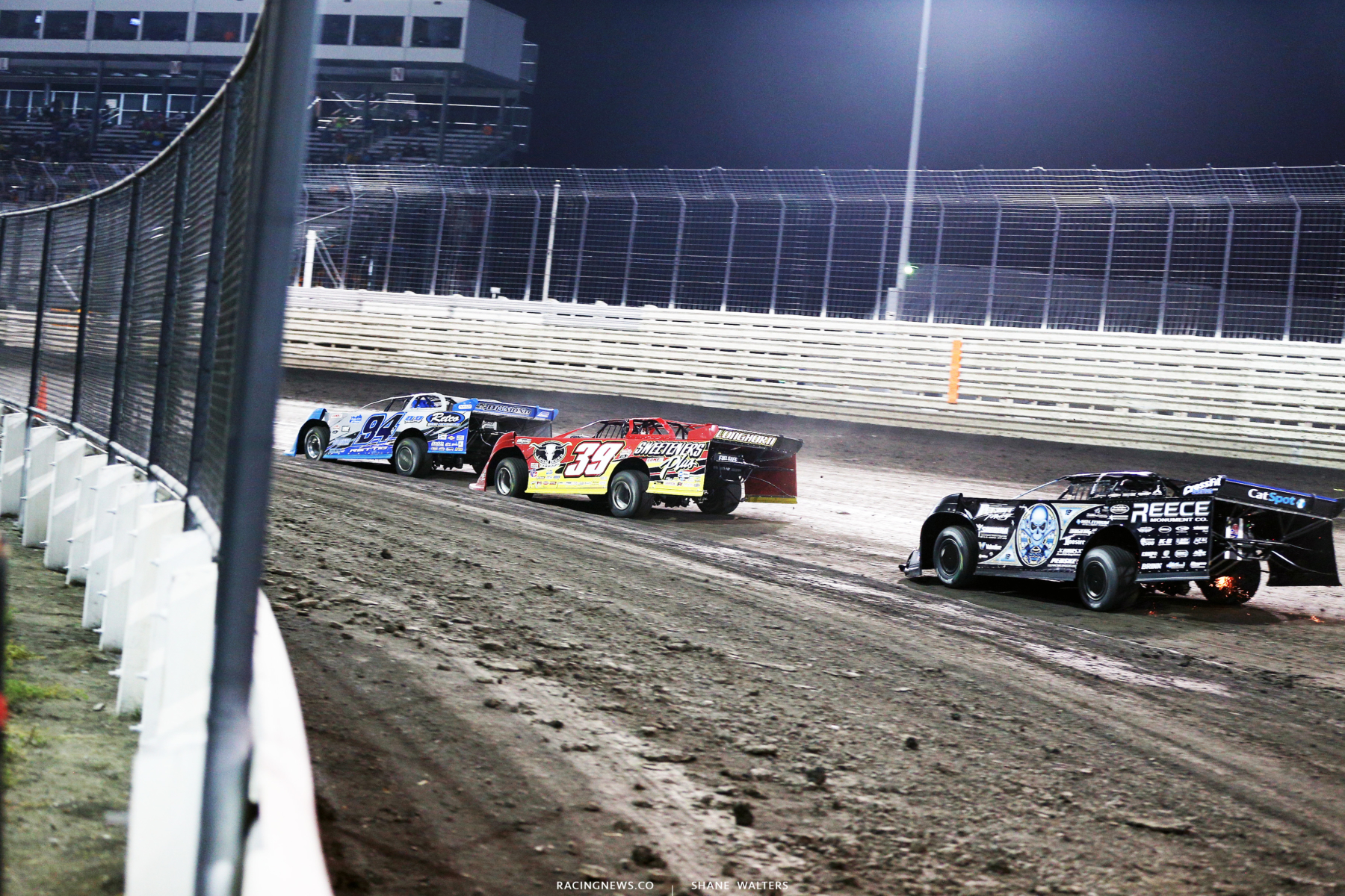 Austin Rettig, Tim McCreadie and Scott Bloomquist at Knoxville Raceway 8786