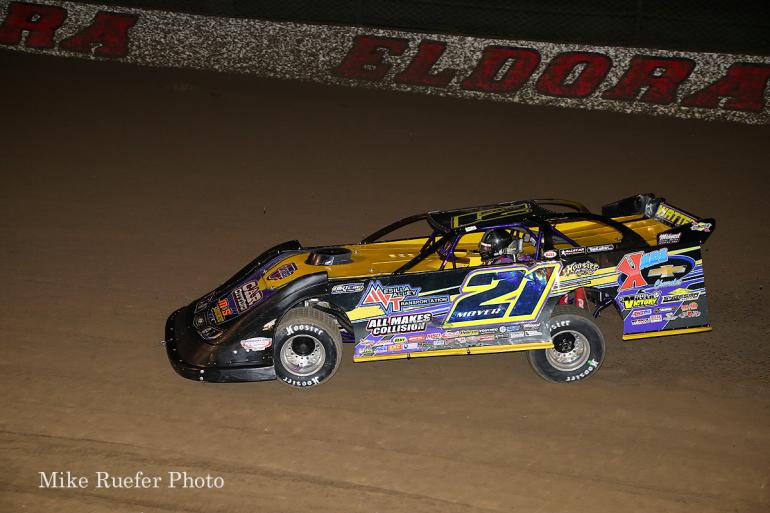 Billy Moyer in the World 100 at Eldora Speedway