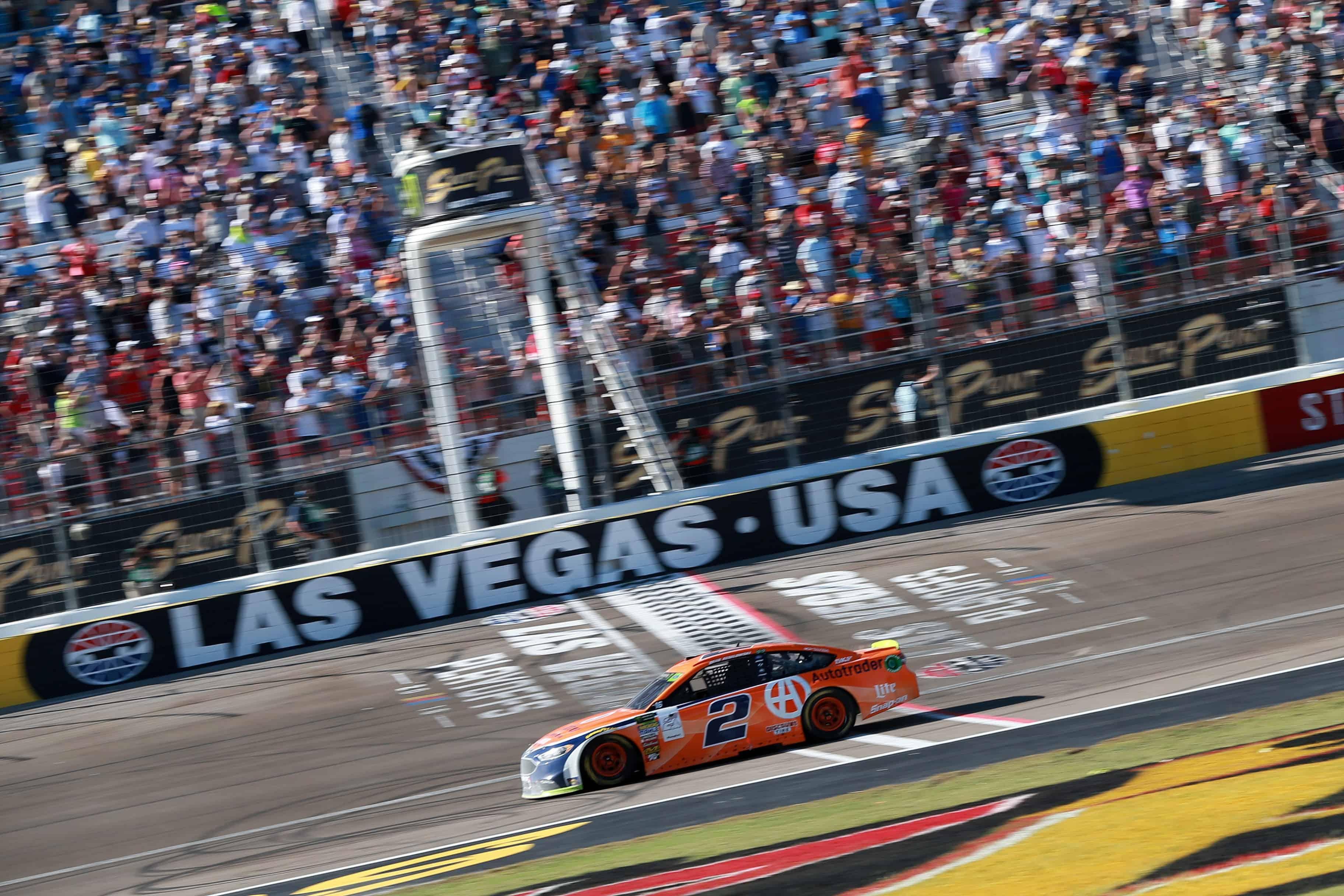Brad Keselowski wins at las Vegas Motor Speedway