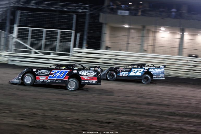 Brian Birkhofer and Gregg Satterlee at Knoxville Raceway 8565