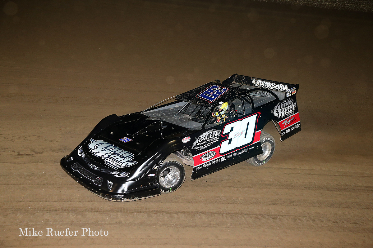 Brian Birkhofer in the World 100 at Eldora Speedway