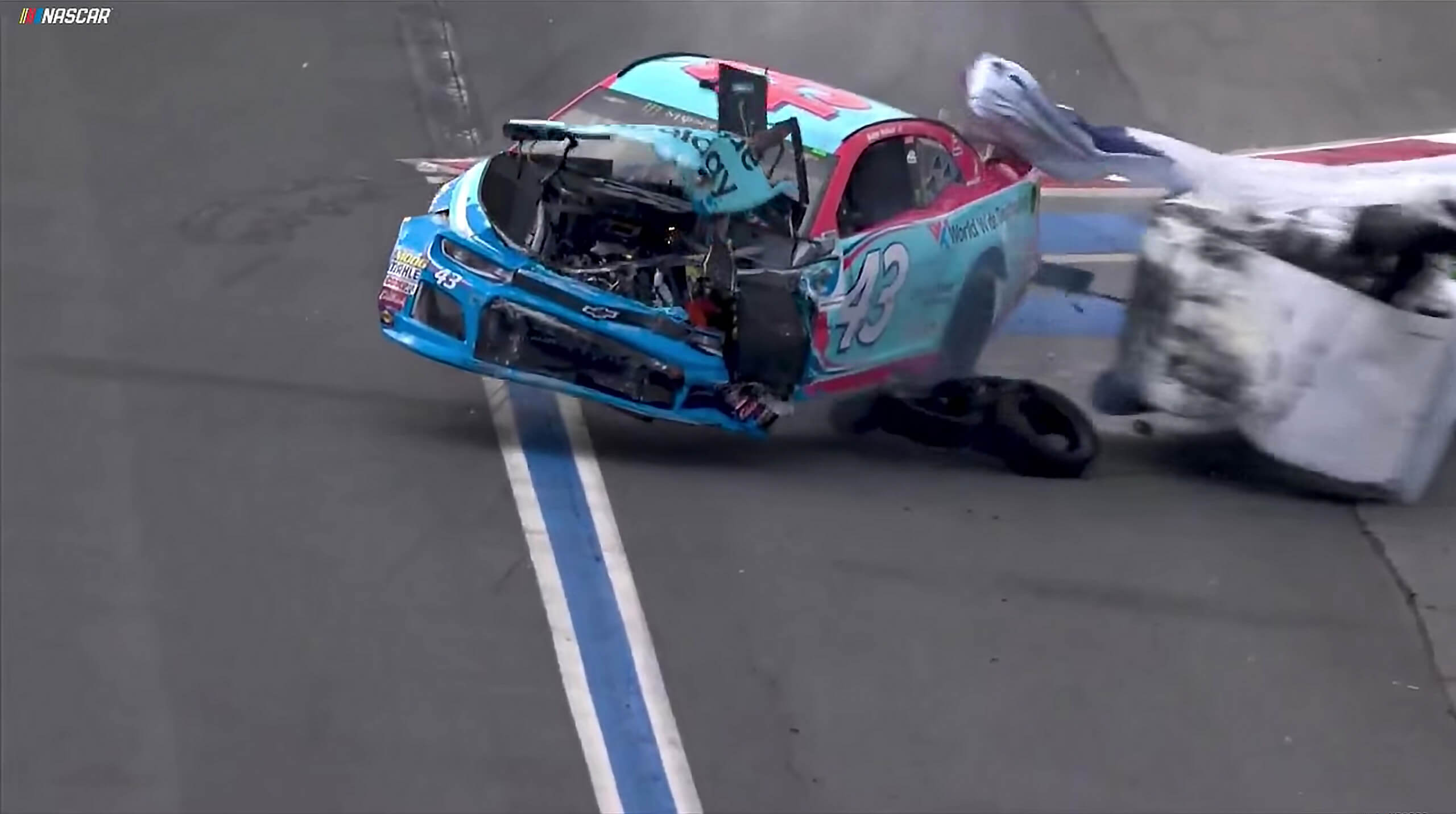 Bubba Wallace - 2018 Charlotte Roval Crash