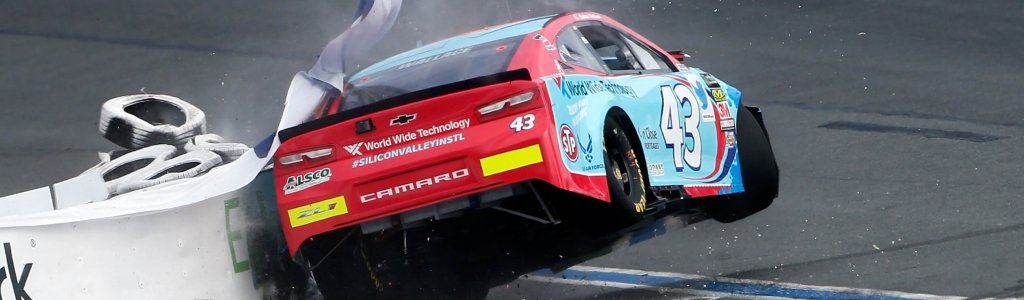 Bubba Wallace: Crash on the Charlotte Roval (Video)